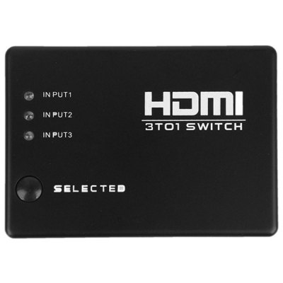 Гаджет   1080p 3 Ports HDMI Switcher Splitter Switch Selector + IR Receiver + Remote Control Home Gadgets