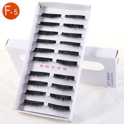 10 Pairs Three Tree Manual False Eyelash Makeup for Women  -  Type F - 5