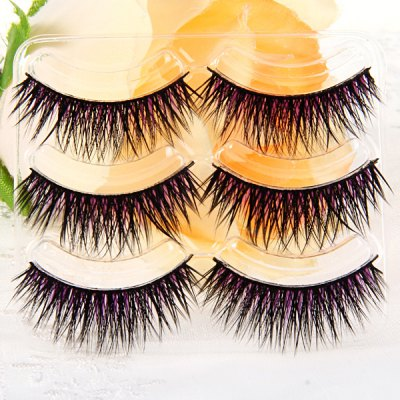 3 Pairs Shidi Shangpin Cross False Eyelash Makeup for Women  -  Type T08Party Supplies<br>3 Pairs Shidi Shangpin Cross False Eyelash Makeup for Women  -  Type T08<br><br>Category: False Eyelash<br>Style: Popular, Charming<br>Type: Manual<br>Color: Purple<br>Season: All Seasons<br>Occasion: Party, Outdoor, Holiday, Daily, Causal<br>Application: Eye<br>Package weight   : 0.06 kg<br>Package size (L x W x H)  : 19.5 x 11 x 4.5 cm<br>Package Contents: 3 x Pair of Type T08 False Eyelash