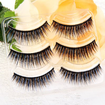 3 Pairs Shidi Shangpin Thick False Eyelash Makeup for Women  -  Type T02Party Supplies<br>3 Pairs Shidi Shangpin Thick False Eyelash Makeup for Women  -  Type T02<br><br>Category: False Eyelash<br>Style: Charming, Popular<br>Type: Manual<br>Color: Blue<br>Season: All Seasons<br>Occasion: Causal, Party, Outdoor, Holiday, Daily<br>Application: Eye<br>Package weight   : 0.06 kg<br>Package size (L x W x H)  : 19.5 x 11 x 4.5 cm<br>Package Contents: 3 x Pair of Type T02 False Eyelash