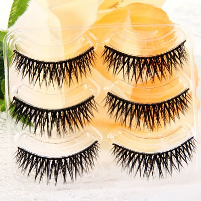3 Pairs Shidi Shangpin False Eyelash Makeup for Women  -  Type T19Party Supplies<br>3 Pairs Shidi Shangpin False Eyelash Makeup for Women  -  Type T19<br><br>Category: False Eyelash<br>Style: Popular, Charming<br>Type: Manual<br>Color: Black<br>Season: All Seasons<br>Occasion: Daily, Holiday, Outdoor, Party, Causal<br>Application: Eye<br>Package weight   : 0.06 kg<br>Package size (L x W x H)  : 19.5 x 11 x 4.5 cm<br>Package Contents: 3 x Pair of Type T19 False Eyelash