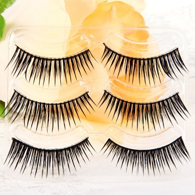 3 Pairs Shidi Shangpin False Eyelash Makeup for Women  -  Type T17Party Supplies<br>3 Pairs Shidi Shangpin False Eyelash Makeup for Women  -  Type T17<br><br>Category: False Eyelash<br>Style: Popular, Charming<br>Type: Manual<br>Color: Black<br>Season: All Seasons<br>Occasion: Daily, Holiday, Outdoor, Party, Causal<br>Application: Eye<br>Package weight   : 0.06 kg<br>Package size (L x W x H)  : 19.5 x 11 x 4.5 cm<br>Package Contents: 3 x Pair of Type T17 False Eyelash