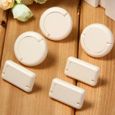 Гаджет   6pcs Plug Socket Protection Electrical Security Lock Cover for Baby Home Gadgets