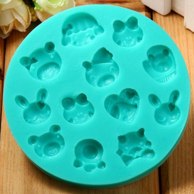 Animal Pattern Fondant Cake Decoration Sugar Craft Silicone Baking Mold