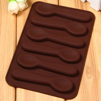 Spoon Pattern Cake Decoration Sugar Craft Silicone Baking Mold