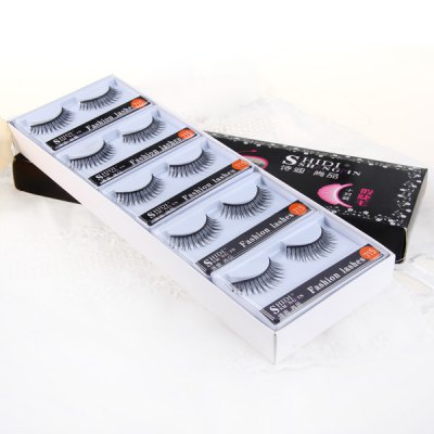 10 Pairs Shidi Shangpin False Eyelash Makeup for Women  -  Type 715Party Supplies<br>10 Pairs Shidi Shangpin False Eyelash Makeup for Women  -  Type 715<br><br>Category: False Eyelash<br>Style: Charming, Popular<br>Type: Manual<br>Color: Black<br>Season: All Seasons<br>Occasion: Causal, Party, Outdoor, Holiday, Daily<br>Application: Eye<br>Package weight   : 0.16 kg<br>Package size (L x W x H)  : 28 x 10 x 3.5 cm<br>Package Contents: 10 x Pair of Type 715 False Eyelash