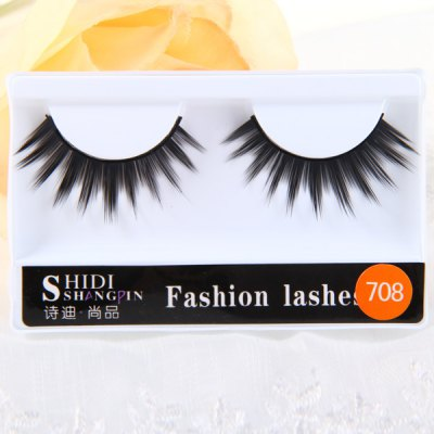 10 Pairs Shidi Shangpin False Eyelash Makeup for Women  -  Type 708Party Supplies<br>10 Pairs Shidi Shangpin False Eyelash Makeup for Women  -  Type 708<br><br>Category: False Eyelash<br>Style: Popular, Charming<br>Type: Manual<br>Color: Black<br>Season: All Seasons<br>Occasion: Daily, Party, Causal, Holiday, Outdoor<br>Application: Eye<br>Package weight   : 0.16 kg<br>Package size (L x W x H)  : 28 x 10 x 3.5 cm<br>Package Contents: 10 x Pair of Type 708 False Eyelash