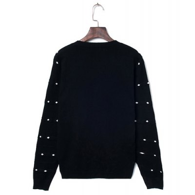 Гаджет   Refreshing V-Neck Slimming Polka Dot Print Solid Color Long Sleeves Men