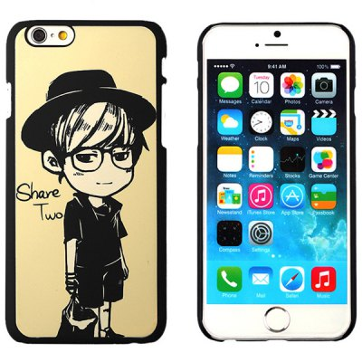 ФОТО Aobntech Practical PC Luminous Protective Back Case of Black Cap Boy Pattern Design for iPhone 6  -  4.7 inches