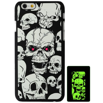 ФОТО Aobntech Practical PC Luminous Protective Back Case of White Skull Pattern Design for iPhone 6  -  4.7 inches