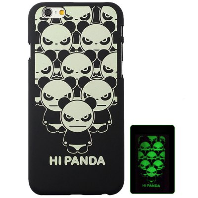 ФОТО Aobntech Practical PC Luminous Protective Back Case of Panda Pattern Design for iPhone 6  -  4.7 inches