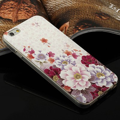 Aobntech Stylish Ultrathin White Flower Pattern TPU Back Case Cover for iPhone 6  -  4.7 inches от GearBest.com INT