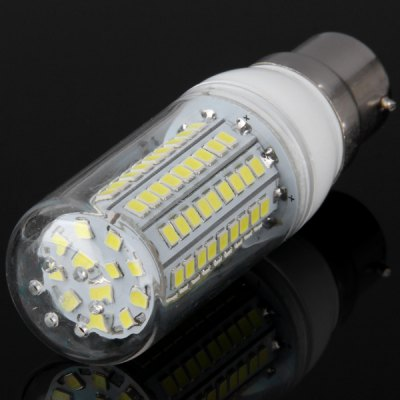 1800Lm 20W B22 SMD  -  2835 102 LEDs White Light Silver Edged LED Corn Lamp 100  -  120VLED Light Bulbs<br>1800Lm 20W B22 SMD  -  2835 102 LEDs White Light Silver Edged LED Corn Lamp 100  -  120V<br><br>Base Type: B22<br>Type: Corn Bulbs<br>Output Power: 20W<br>Emitter Type: SMD-2835 LED<br>Total Emitters: 102 LEDs<br>Actual Lumen(s): 1800Lm<br>Voltage (V): AC 100-120V<br>Appearance: Clear Sheating<br>Features: Long Life Expectancy, Energy Saving, Low Power Consumption<br>Function: Home Lighting, Studio and Exhibition Lighting, Commercial Lighting<br>Available Light Color: Cold White, Warm White<br>Sheathing Material: Plastic<br>Product Weight: 0.035 kg<br>Package Weight: 0.05 kg<br>Product Size (L x W x H): 9.6 x 2.9 x 2.9 cm / 3.80 x 1.14 x 1.14 inches<br>Package Size (L x W x H): 9.7 x 3.6 x 3.6 cm<br>Package Contents: 1 x B22 20W 102 SMD 2835 1800Lm LED Corn Bulb