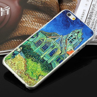 ФОТО Aobntech PC Protective Back Case of Van Gogh Auver Church Pattern Design for iPhone 6  -  4.7 inches