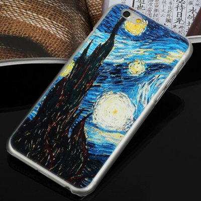 ФОТО Aobntech PC Protective Back Case of Van Gogh Starry Night Pattern Design for iPhone 6  -  4.7 inches