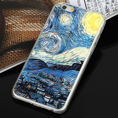 ФОТО Aobntech PC Protective Back Case of Van Gogh Starry Night Village Pattern Design for iPhone 6  -  4.7 inches