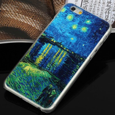 ФОТО Aobntech PC Protective Back Case of Van Gogh Starry Night Painting Pattern Design for iPhone 6  -  4.7 inches