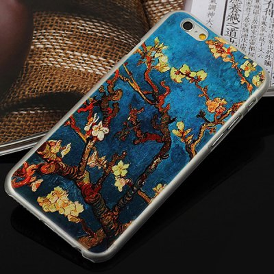 ФОТО Aobntech PC Protective Back Case of Van Gogh Prunus Painting Pattern Design for iPhone 6  -  4.7 inches