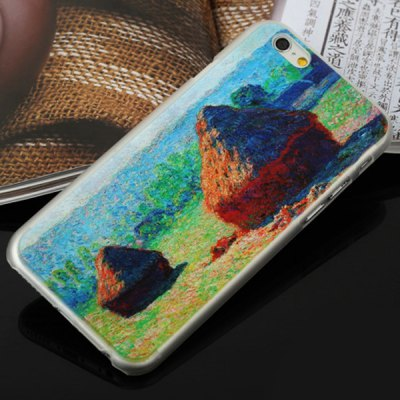 ФОТО Aobntech PC Protective Back Case of Monet Haystack Pattern Design for iPhone 6  -  4.7 inches
