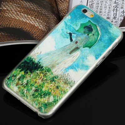 ФОТО Aobntech PC Protective Back Case of Monet Woman with Parasol Pattern Design for iPhone 6  -  4.7 inches