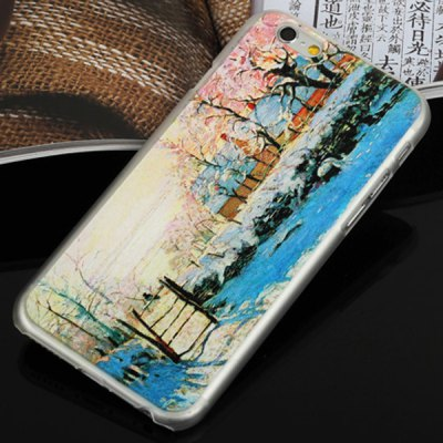 ФОТО Aobntech PC Protective Back Case of Monet Magpie Pattern Design for iPhone 6  -  4.7 inches