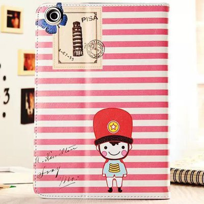 Гаджет   Practical Stripe Soldier Pattern Stand Design PU and PC Cover Case for iPad mini iPad Cases/Covers