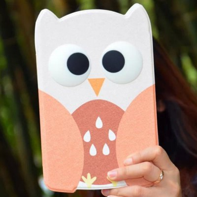 Гаджет   Practical Owl Pattern Stand Design PU and PC Cover Case for iPad mini iPad Cases/Covers