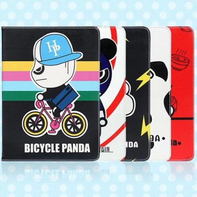 Фотография Practical Flash Panda Pattern Stand Design PU and PC Cover Case for iPad 2 3 4
