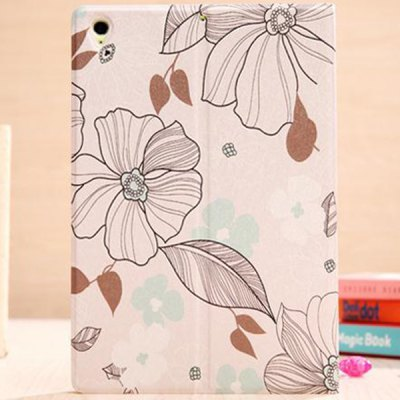 Гаджет   Stylish White Flower Pattern PU and PC Case Cover for Xiaomi MiPad iPad Cases/Covers