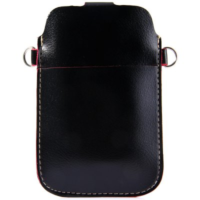 Гаджет   Universal PU Material 5 inches Vertical Snapper Phone Pouch Lanyard Change Card Pocket Other Cases/Covers