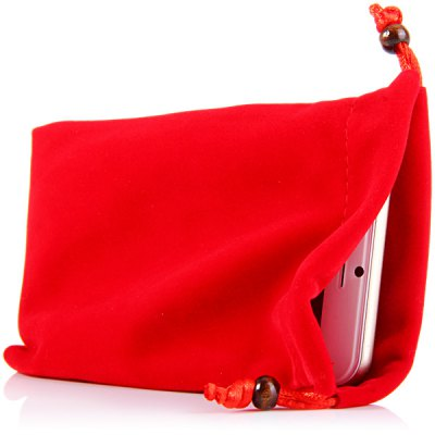 Гаджет   Durable Soft 4.3 inch Cotton Flannel Phone Bag Storage Pouch Other Cases/Covers