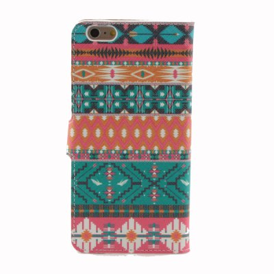 Гаджет   PU Leather Colorful Stripes Pattern Mobile Phone Case Cover for iPhone 6 Plus 5.5 inch iPhone Cases/Covers