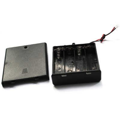 Гаджет   Practical External 4 Slots Wiring 1.5 AA Battery Holder Case Box with Cover LED Accessories