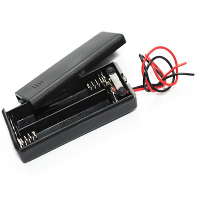 Гаджет   Practical External 2 Slots Wiring 1.5 AAA Battery Holder Case Box with Leads LED Accessories