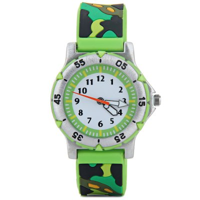 Гаджет   Children 3D Camouflage Colors Quartz Watch Rubber Watch Band Kids
