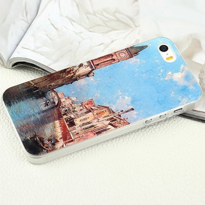 ФОТО Aobntech PC Protective Back Case of Waterside Painting Pattern Design for iPhone 5S 5