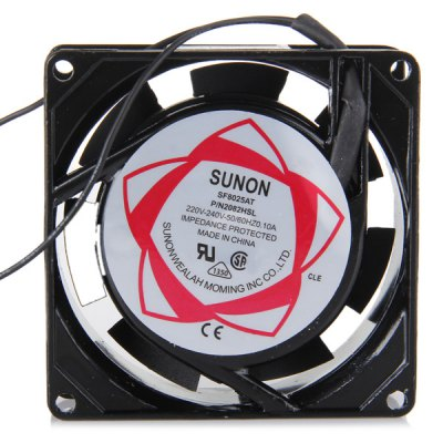 SF8025AT AC 220  -  240V 100mA DIY Cooling Fan Air Fans for Computer Cases ( 7.8cm Diameter )