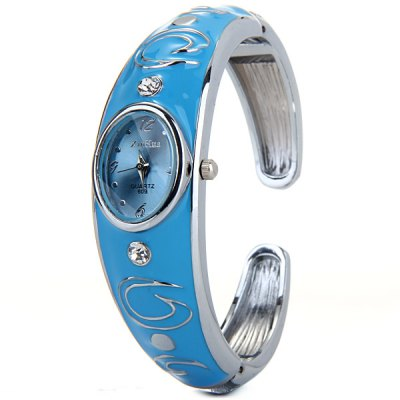 Xinhua 609 Women Quartz Watch Bracelet Steel Strap Oval Dial