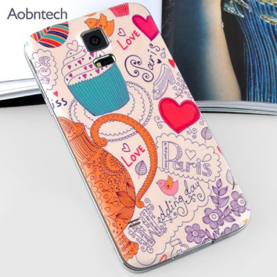 ФОТО Aobntech Plastic Material Relief Phone Case Love Pattern Battery Back Cover for Samsung Galaxy S5