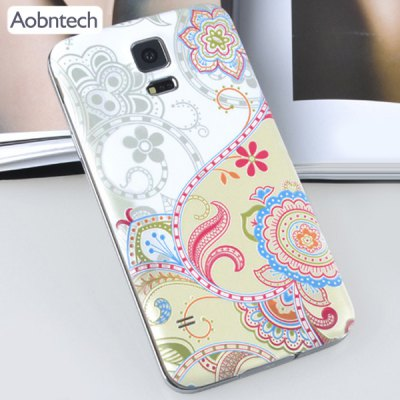 ФОТО Aobntech Plastic Material Relief Phone Case Flower Pattern Battery Back Cover for Samsung Galaxy S5