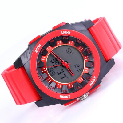 Гаджет   Shhors Analog Digital Watch Double Display Water Resistant Multifunction for Sports Sports Watches