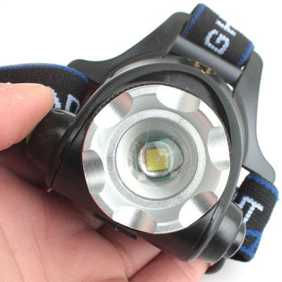 Гаджет   Zweihnder 900LM CREE XML T6 3 Modes Water - resistant Zoomable LED Headlamp  -  2 x 18650 Battery