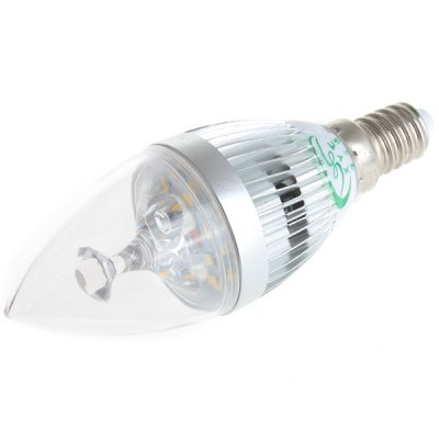 Гаджет   Zweihnder 450Lm E14 5W 15 SMD 2835 LEDs 5500  -  6000K Candle Lamp with Silver Fin LED Light Bulbs