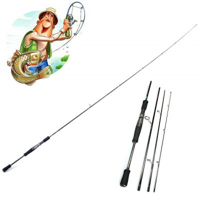 Yoshikawa 704L 2.15m Telescopic Tele Spin Fishing Rod Pole Stick Angler Gadgets