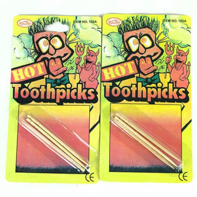 6Pcs Trick Hot Toothpick Prank Toy