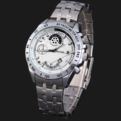 Yagexing 8018G Men Japan Quartz Watch 3ATM Water ResistantMens Watches<br>Yagexing 8018G Men Japan Quartz Watch 3ATM Water Resistant<br><br>Watches categories: Male table<br>Watch style: Business<br>Available color: Black, Orange<br>Movement type: Quartz watch<br>Shape of the dial: Round<br>Display type: Analog<br>Case material: Stainless steel<br>Band material: Stainless steel<br>Clasp type: Folding clasp with safety<br>Special features: Date, Decorating small sub-dials<br>Water Resistance: 30 meters<br>The dial thickness: 1.2 cm / 0.5 inches<br>The dial diameter: 4.5 cm / 1.8 inches<br>The band width: 2.0 cm / 0.8 inches<br>Product weight: 0.144 kg<br>Product size (L x W x H): 15.5 x 4.5 x 1.2 cm / 6.1 x 1.8 x 0.5 inches<br>Package Contents: 1 x Watch