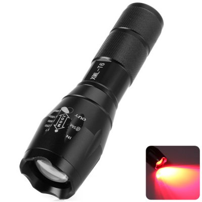 UltraFire A100 Cree XML T6 620 - 630nm Zoomable Red Light Flashlight