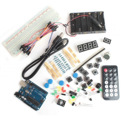 XD35 Full Function DIY UNO R3 Resistor Buzzer Digital Tube Sensor LED Module Kit for Official Arduino