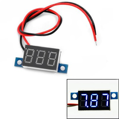 3.3 - 30 V 0.36 inch 3 Digital Blue LED Display Voltmeter