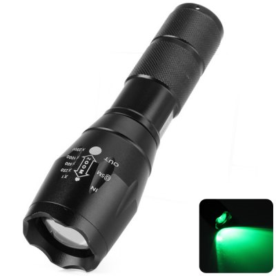 UltraFire A100 Cree Q5 517 - 525nm Green Light Retractable LED Torch